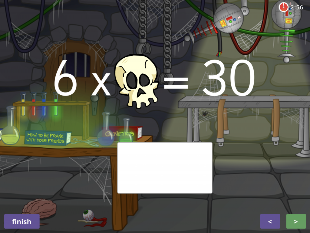 Number sentences with missing numbers