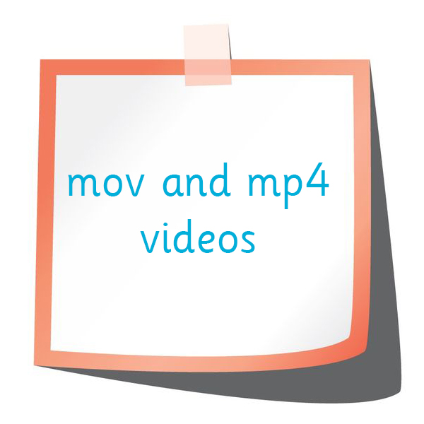 mp4 and mov videos
